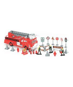 Another great find on #zulily! Fire Scene Play Set #zulilyfinds