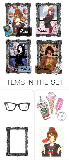 """MAID CAFE !!"" by squishy-bubble-tea ❤ liked on Polyvore featuring art"