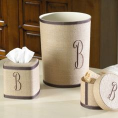 I really love Ballard Designs. Such a clean, timeless style.   I was browsing around their website last week and these bathroom accessories ...