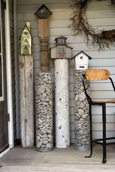 DIY garden projects with rocks #GardenArt #birdhousetips