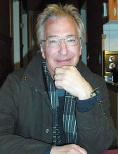 Alan Rickman on the film set of Snow Cake