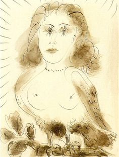 "Pablo Picasso - ""Portrait of Dora Maar"", 1937 Pablo Picasso Drawings, Picasso Prints, Picasso Sketches, Kunst Picasso, Art Picasso, Drawing Sketches, Art Drawings, Dora Maar, Georges Braque"