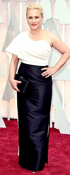 Oscars 2015 - black and white Rosetta Getty gown