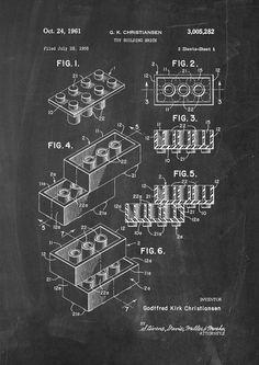 He encontrado este interesante anuncio de Etsy en https://www.etsy.com/es/listing/189553752/lego-patent-wall-art-poster-2