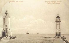 Sulina - Farurile din port - antebelica Old Photos, Vintage Photos, Lighthouses, History, Outdoor, Art, Old Pictures, Outdoors, Art Background