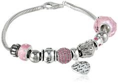 """CHARMED BEADS Sterling Silver Love Never Fails Bead Bracelet, 7.5"""". STERLING SILVER CHARMED BEADS. Additional Beads Avaialble. Imported. Crafted in .925 Sterling Silver."""