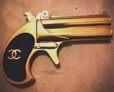 Chanel! Gun! Now we're talking. Fire with style!