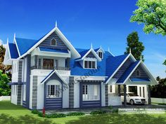 75 lakhs Budgeted #Luxury #Victorianmodelhome. Contact us Today. #victoriandesigns #victorianhome  http://www.kmhp.in/design/victorian-type-model-plans/