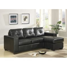 Interested in a Black Lacey Sectional Sofa with reversible chaise? Look no further than Pallucci Furniture to find that special piece for your living space! Corner Sofa Cheap, Ikea Corner Sofa, Corner Sofa Sale, Leather Corner Sofa, Leather Sofa, Sofa Italia, Italian Sofa, Retro Sofa, Leather Sectional Sofas