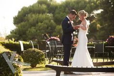 Bride and groom just married at Vincci Estrella del Mar Hotel