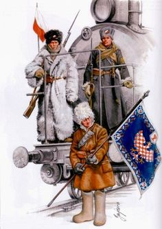 The Czech Legion during his trip to Russia
