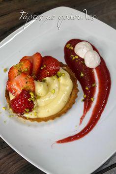 Sweet Desserts, Dessert Recipes, Food Decoration, Greek Recipes, No Bake Cake, Panna Cotta, Food And Drink, Cooking Recipes, Menu