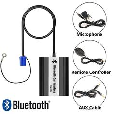 64.99$  Watch here - http://alispu.worldwells.pw/go.php?t=32720823208 - Bluetooth Receiver Car Kit Hands Free Phone Call Wireless Music Adapter for 1999-2001 V.W Golf Jetta Passat Polo Tiguan T5