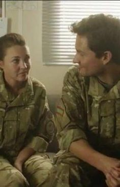 Lacey Turner and Ben Aldridge from 'Our Girl' great show from BBC
