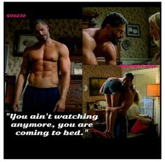 """""""You ain't watching anymore, you are coming to bed.""""  Alcide - Joe Manganiello  True Blood E10 S6 #Alkie #Sookcide"""