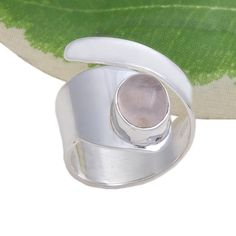 FOR SELL 925 SOLID STERLING SILVER ROSE QUARTZ FANCY RING 6.17g DJR3700 #Handmade #Ring