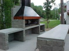 Diy Outdoor Kitchen, Backyard Kitchen, Outdoor Cooking, Backyard Patio, Outdoor Decor, Barbecue Pit, Bbq Grill, Outside Living, Outdoor Living