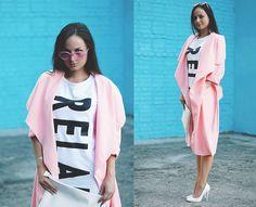 Dresslink  Coat, Giant Vintage Sunglasses, Style Moi Flash Tattoo