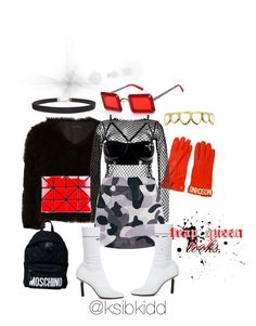 """trap queen."" by ksiblee on Polyvore featuring Moschino, Jocelyn, Dries Van Noten, Coco de Mer, Vetements, Bao Bao by Issey Miyake, Roial and Humble Chic"