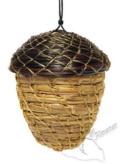 Acorn Ornament and Treasure Box Basket by HeartOfAlmanor on Etsy, $20.00