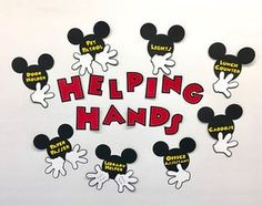 Summer Bulletin Boards For Daycare Discover Helping Hands Personalized (You Pick the Jobs) Mickey Mouse Job Chart Mickey Mouse Classroom, Disney Classroom, Classroom Jobs, Future Classroom, Classroom Management, Classroom Decor, Preschool Rooms, Preschool Kindergarten, Theme Mickey