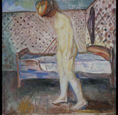 MUJER LLORANDO Munch se aleja del arquetipo de mujer dominante que nos mira de frente y se la ve en posición de lamentación y ruptura trágica.