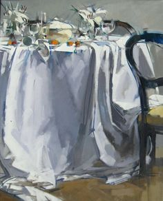 MAGGIE SINER - PAINTINGS. nice composition, like the white on white