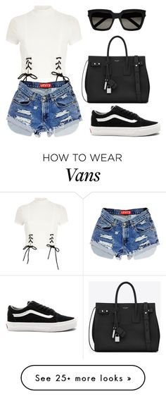 """""""Untitled #722"""" by madelin-ruby on Polyvore featuring River Island, Yves Saint Laurent and Vans"""