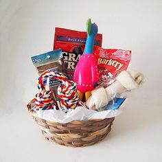 Dog Gift Basket Treats Crewing Toy Holiday Set #affiliate