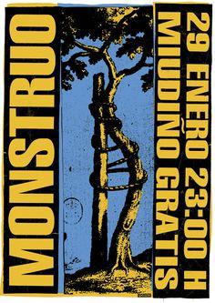 Cartel para el concierto de Monstruo organizado por PORNO.
