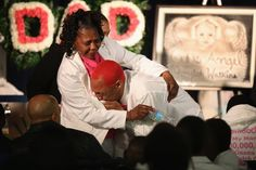 UNBEARABLE: A mourner was overcome with grief after viewing the remains of six-month-old Jonylah Watkins before her funeral on Tuesday in Chicago. The baby was shot, along with her father, in the family's minivan March 11 and died the following day. Her father is recovering from his wounds. (Scott Olson/Getty Images)