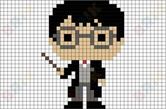 Harry Potter Pixel Art Harry James Potter was a half-blood wizard, the only child and son of the late James and Lily Potter, and one of the most famous wizards of modern times. Pixel Art Harry Potter, Harry Potter Perler Beads, Harry Potter Cross Stitch Pattern, Harry Potter Crochet, Cross Stitch Patterns, Harry Potter Minecraft, Image Pixel Art, Cool Pixel Art, Pixel Art Anime