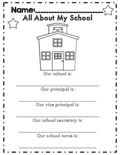 all about my school back to school for first grade activities