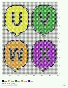 ABC BALLOONS *U-X* by JODY 6/7