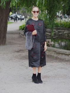 Petra Fashion week Stockholm - Street Style http://www.indiedays.com/item/toimitus/normcorea-vai-bling-blingia