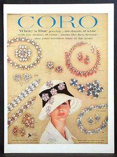 1960s Coro ad - love the hat!