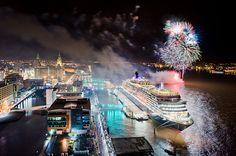 Queen Victoria cruise liner  Liverpool, UK