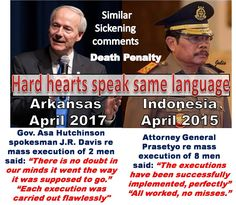 Hard hearts that love death penalty speak the same language across the world  🔫💉🇺🇸🇮🇩‼️😢💔  Hate knows no bounds😢💔