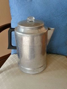 VINTAGE COMET ALUMINUM STOVE TOP OR CAMPING 5 to 20 CUP COFFEE POT PERCOLATOR  #CometAluminum