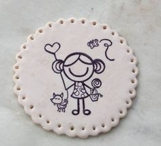 fimo-felt embroidery idea