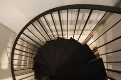 Estades Vosges | Archipelles PARIS Agency.  Black Staircase. Metal staircase. Stairs