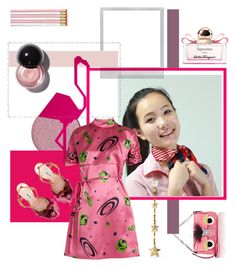 """chinese impression by roxariaone"" by roxariaone ❤ liked on Polyvore featuring Fendi, Polaroid, Miu Miu, Delfina Delettrez and Salvatore Ferragamo"