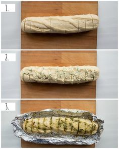 Take your homemade garlic bread to the next level by using roasted garlic! Using minimal ingredients this truly is the ultimate side dish to any meal! Garlic Bread Baguette, Garlic Cheese Bread, Vegetarian Recipes Easy, Cooking Recipes, Bread Recipes, Donut Recipes, Homemade Garlic Bread, Homemade Breads, Tapas