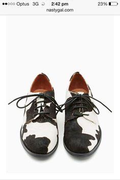 Shoes cow print