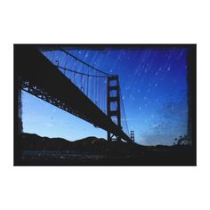 Golden Gate Bridge Photo Edit - Rainy Night Gallery Wrapped Canvas #sold on @zazzlede