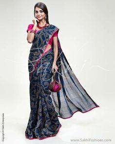 Blue & Pink Chanderi Silk Saree sr_0303_indigo_honey