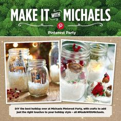 Just ask Michaels! They are ready to help you get a head start by hosting a Holiday Pinterest Party at their stores on Saturday, November 15th