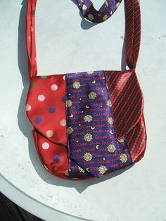 Old ties into a purse by Momma Wendy