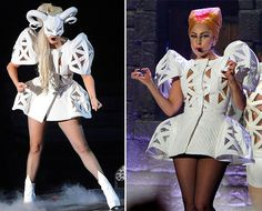 Lady Gaga's Most Eccentric Outfits Lady Gaga Outfits, Latest Fashion Trends, Fashion Ideas, Wearable Art, Style Icons, Celebrity Style, Mini Skirts, Shirt Dress, Celebrities