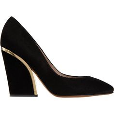 Chloe. gold plated heel. 2014 trend. fashionable pumps. fashion week trend.